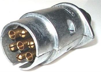 7 pin large round metal trailer plug