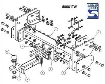 50001TW Isuzu N Series Tipper 2500kg Towbar