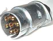 7-pin Large Round Metal Trailer Plug